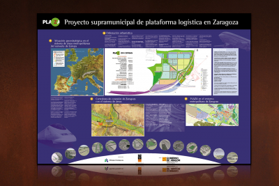 gráfica publicitaria para Plaza