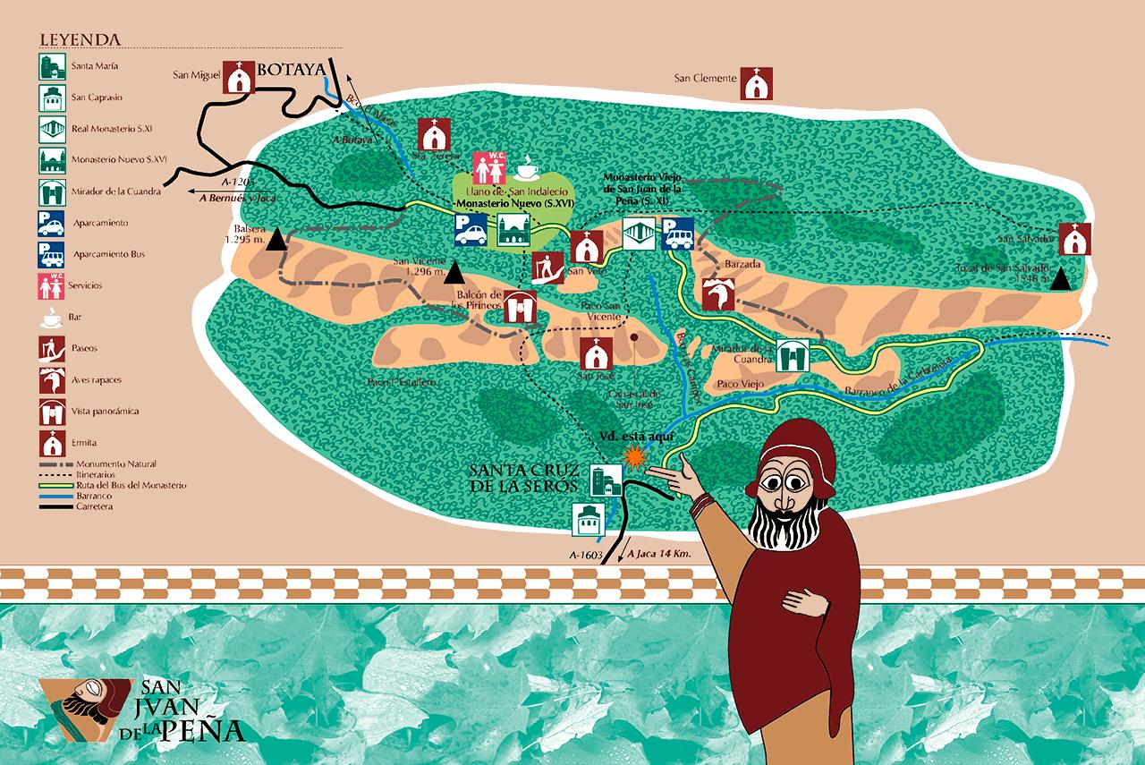 señalización para San Juan de la Peña