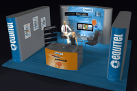 diseño de stand para Equitel